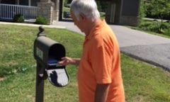 Resident checking mail