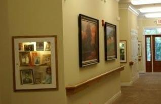 Dolan at Villa Dorado hallway