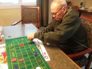 Resident at Dolan playing a game